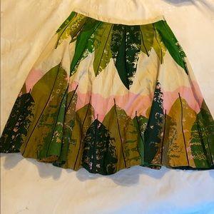 Boho leaf print circle skirt by Snak. Size 10